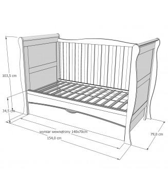 Łóżko piętrowe DOMINIK bez szuflady