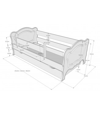 Łóżko Kasia z szufladą